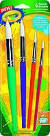Crayola Набір пензликів для малювання фарбами.4 штуки.