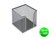 Подставка под бумагу для заметок Optima, 100х100х100 мм, метал сетка, серебренная O36313-10