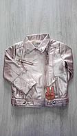Стильная куртка для девочек от 4 до 10 лет