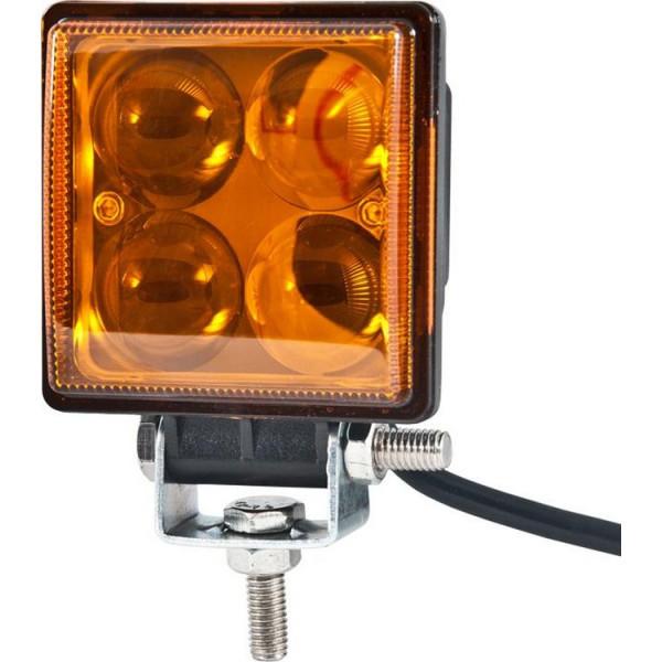 Фара LED светодиодная BELAUTO EPISTAR Spot Amber, 12W, точечный/желтый свет