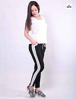 Жіночі молодіжні спортивні штани з лампасами 42-54р.
