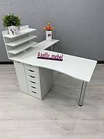 Профессиональный стол для маникюра с 2 складными столешницами