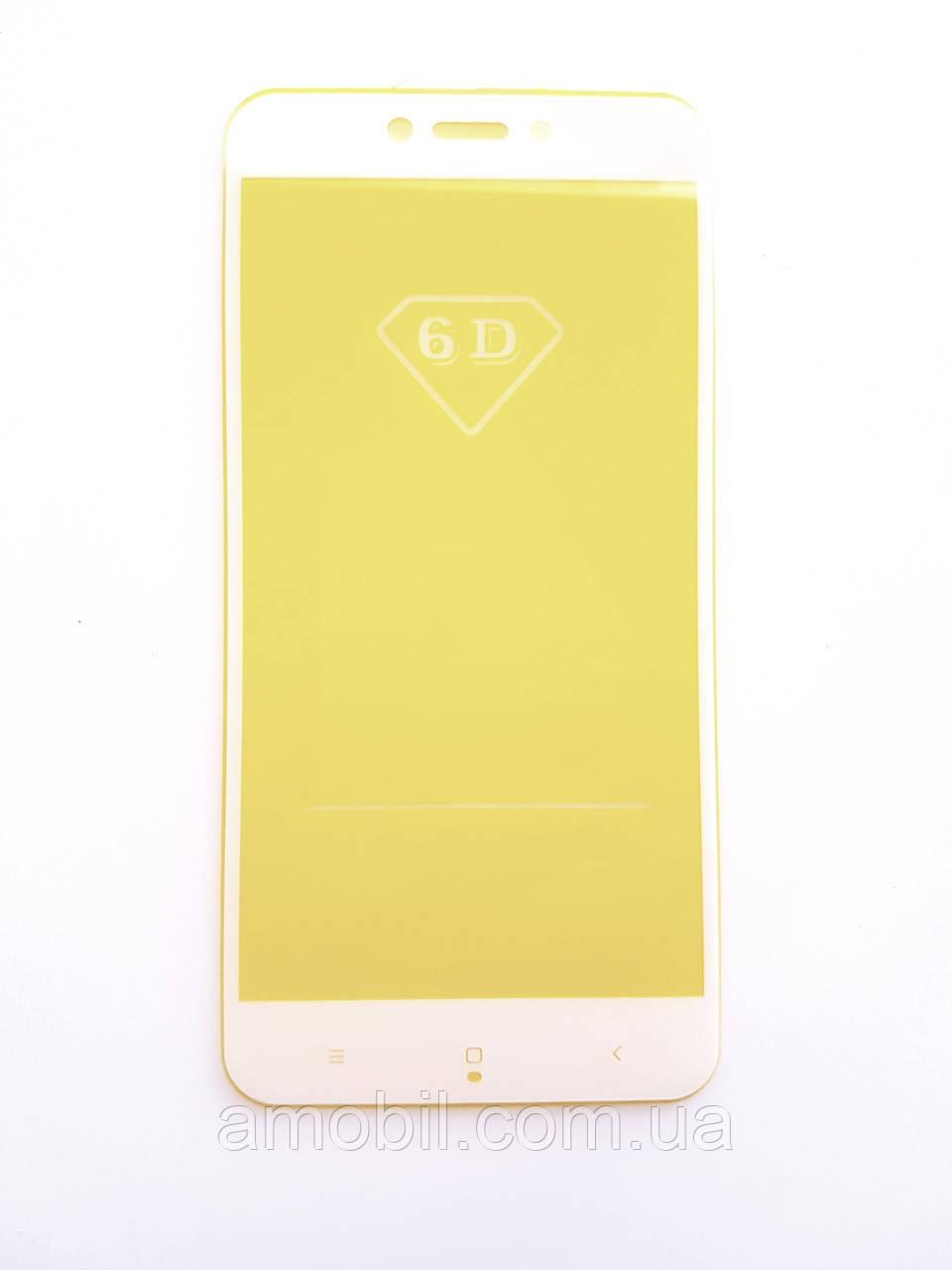 Защитное стекло 6D Xiaomi Redmi 5A / GO full glue white