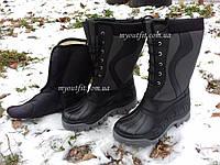 Мужские сапоги для зимней рыбалки охоты Серые Чоловічі чоботи для зимової рибалки полювання Сірі