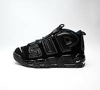 Nike Air More Uptempo x Supreme Full Black, фото 1