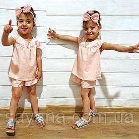 Костюм для девочки: шорты и блузочка в расцветках. БЛ-7-0619