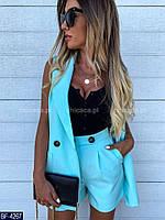 Женский летний костюм (пиджак+шорты),женские костюмы, фото 1