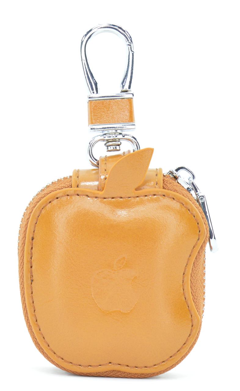 Чохол-сумка Oloka для навушників Apple AirPods з карабіном Коричневий (123177)