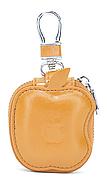 Чехол-сумка Oloka для наушников Apple AirPods с карабином Коричневый (123177)