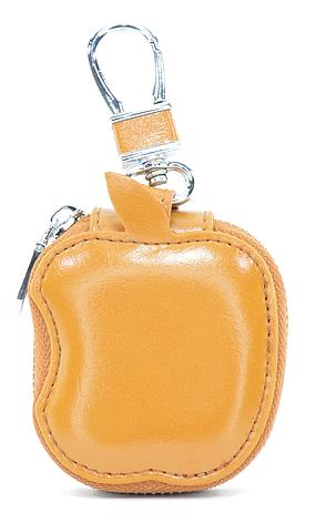 Чохол-сумка Oloka для навушників Apple AirPods з карабіном Коричневий (123177), фото 2