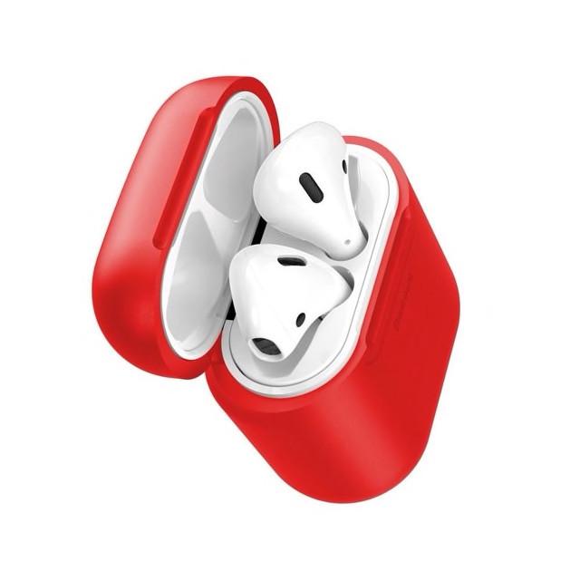 Чохол-зарядка Baseus для навушників Apple AirPods WIAPPOD-09 Безпровідна зарядка Червоний (123187)