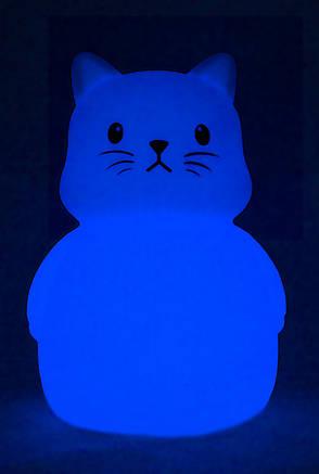 Светильник-ночник детский силиконовый Colorful Silicone Котик (349576), фото 2