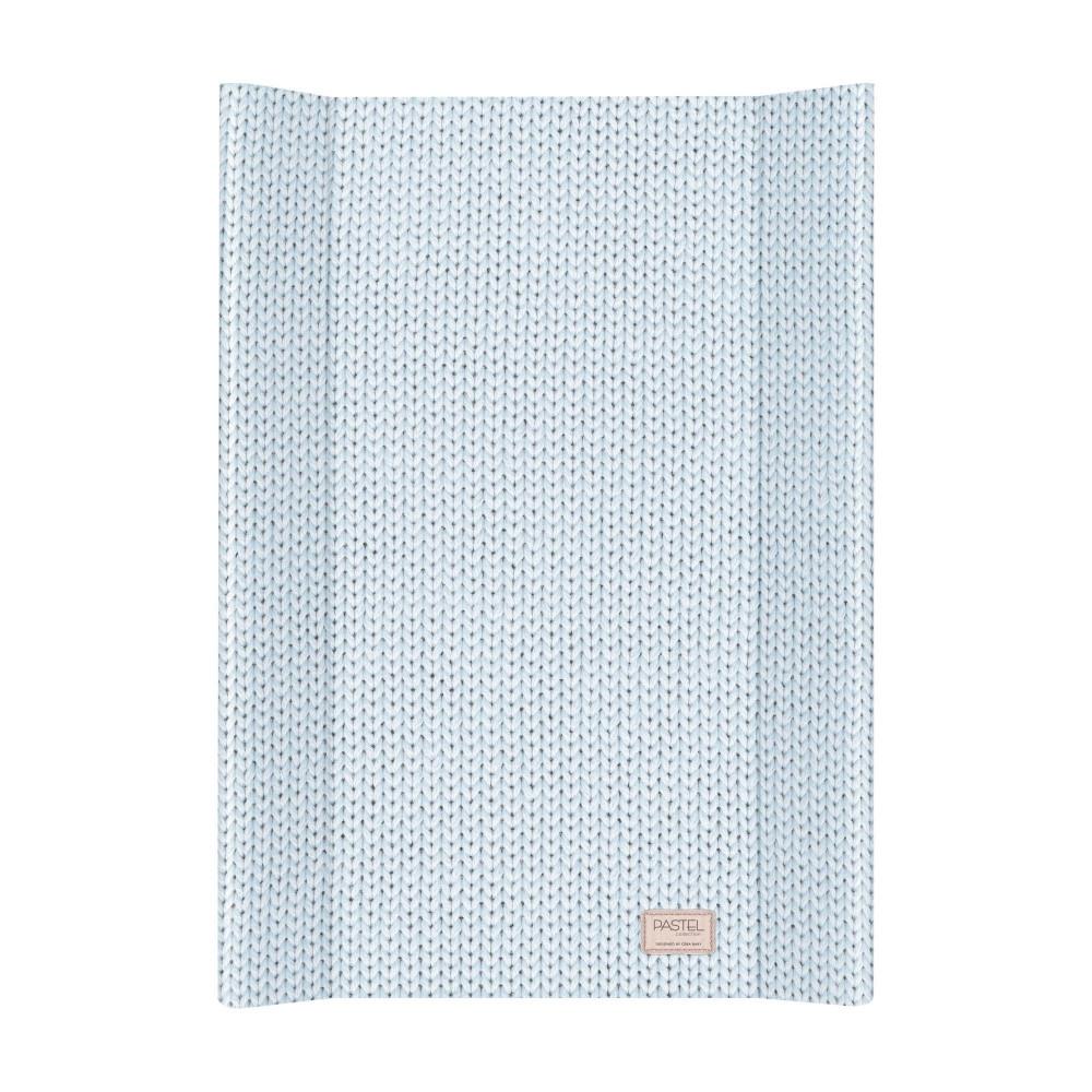 Пеленальная доска Ceba Baby 50х80 Pastel Collection English rib blue (цвета в ассортименте)