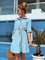 Платье с пояском / софт / Украина 13-185, фото 1