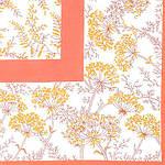 "Павлопосадский платок из хлопка (батист) ""Травинка"", размер 65х65 см. рис. 1303-2, фото 2"