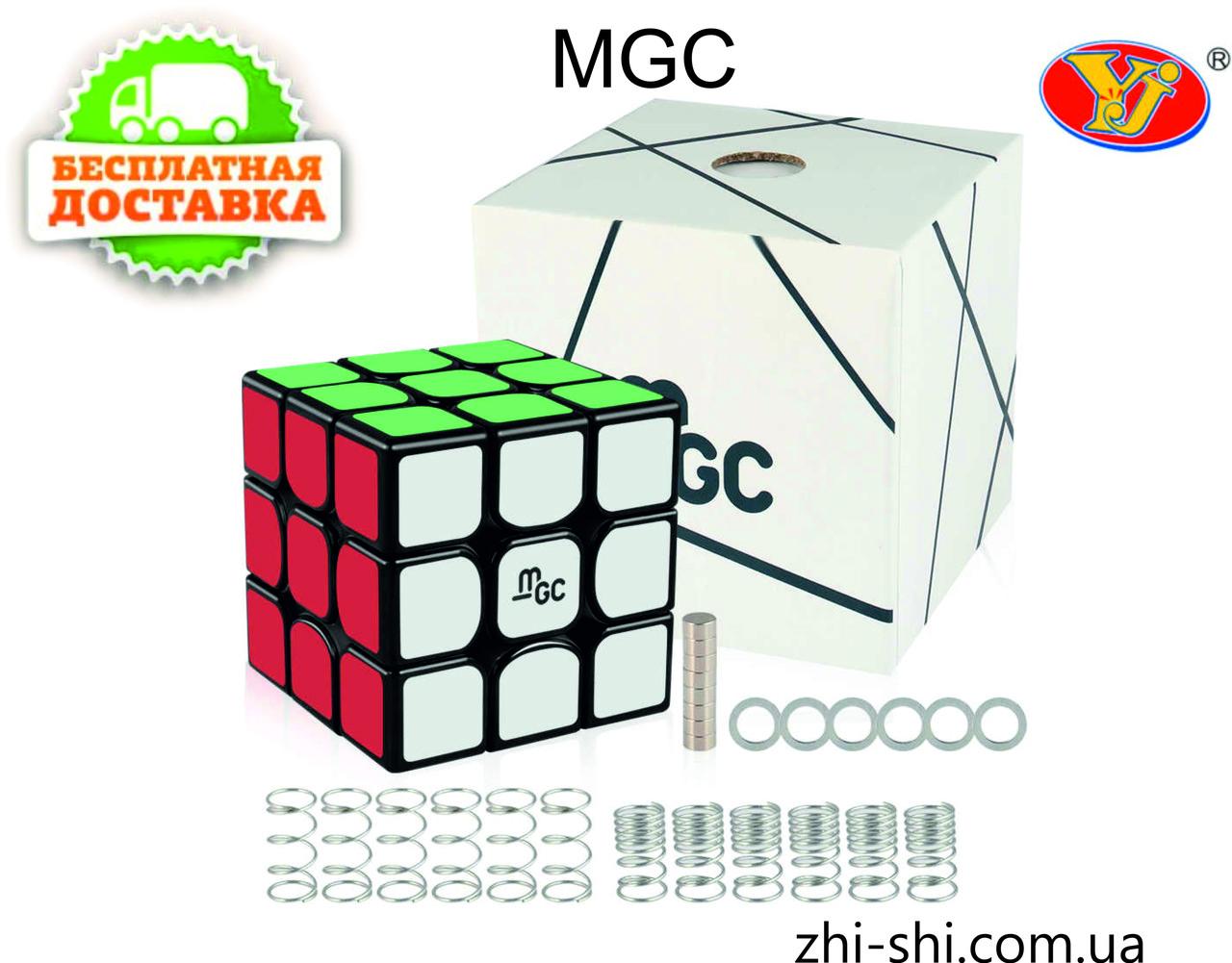 Кубик Рубика 3х3 MGC (Magnetic) чёрный MoYu YJ