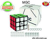 Кубик Рубика 3х3 MGC (Magnetic) чёрный MoYu YJ, фото 1