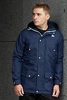 """Парка-куртка мужская не продуваемая """"Тарас"""" темно-синяя — размеры M, XL"""
