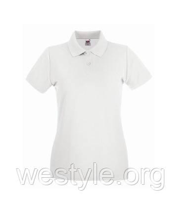 Футболка Поло хлопковая женская - 63030-30 белая