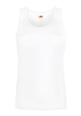 Спортивная женская майка белого цвета Performance vest lady-fit - XS, S, M, L, 2XL