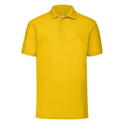 Рубашка поло мужская с коротким рукавом желтая