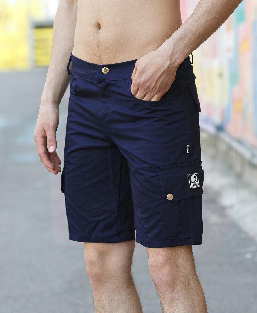 """Классные мужские шорты """"Classic"""" темно-синие - размер M"""