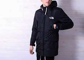 """Зимняя мужская парка """"The North Face"""" черного цвета (реплика) - L, XL"""