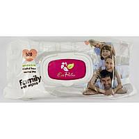 """Серветки вологі дит. """"Eco Relax"""" (100шт) Для всієї родини Без запаху №0347"""