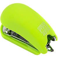 """Степлер """"Buromax"""" №24;№26 15арк Rubber Touch міні св.-зелений №4234-15(12), фото 1"""
