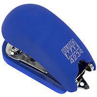 "Степлер ""Buromax"" №24;№26 15арк Rubber Touch міні синій №4234-02(12)"