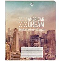 """Тетрадь 60 листов линия Подолье """"Мажента"""" Американская мечта картонная обложка 13005"""