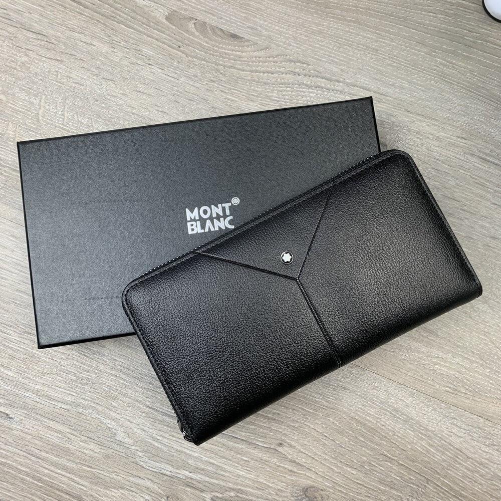 Montblanc Meisterstück Coner Wallet 8cc with Zip Black