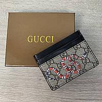 Gucci Kingsnake print GG Supreme Card Case, фото 1