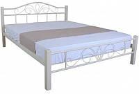 Кровать металлическая полуторная Como 1400 x 2000 beige Бесплатная доставка