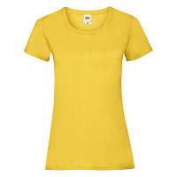 Літня молодіжна жіноча футболка жовтого кольору