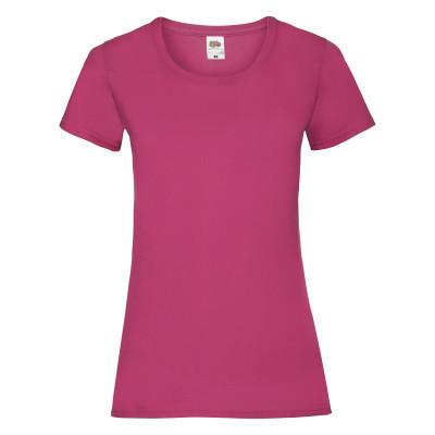 Летняя яркая женская футболка под нанесение малинового цвета