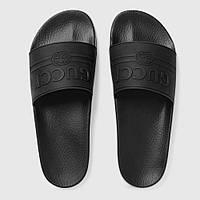 Gucci Logo Rubber Slide Sandal Black, фото 1