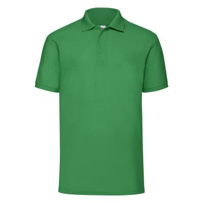 Летняя мужская рубашка-поло с коротким рукавом ярко-зеленая