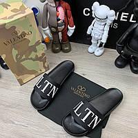 Valentino Garavani VLTN Slide Sandals Black, фото 1