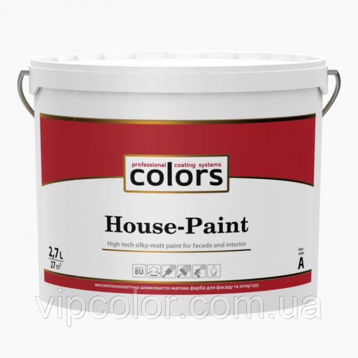 СOLORS House-Paint высокотехнологичная универсальная краска 2,7л