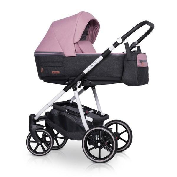 Дитяча коляска Riko Swift Natural 01 Scarlet (Рожева)