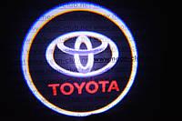 Подсветка дверей авто / лазерная проeкция логотипа Toyota | Тойота