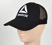 Бейсболка вышивка сетка Reebok черный, фото 1