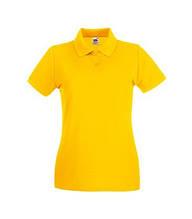 Футболка Поло жіноча бавовняна - 63030-34 сонячно-жовта