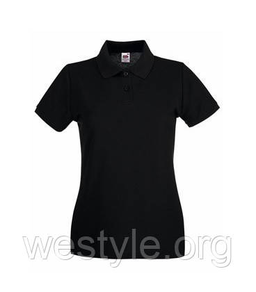 Футболка Поло хлопковая женская - 63030-36 черная