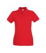 Футболка Поло жіноча бавовняна - 63030-40 червона