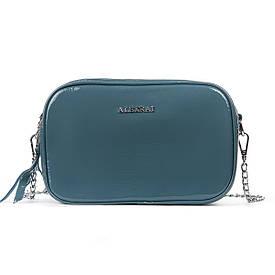 Женская кожаная сумочка-клатч на каждый день голубая 06-1 8736-3 l-blue