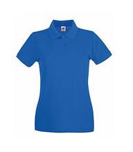 Футболка Поло жіноча бавовняна - 63030-51 яскраво-синя