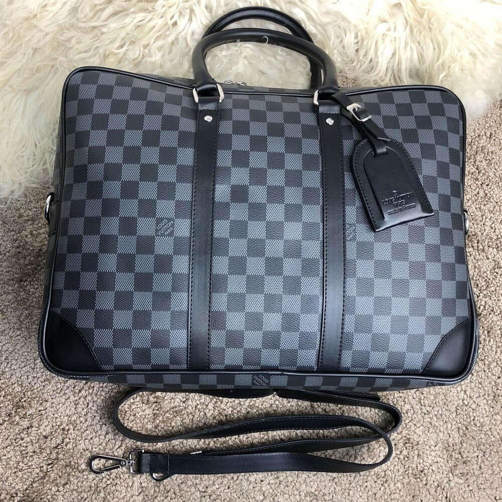 Louis Vuitton Porte-Dociments Voyage PM Damier Graphite