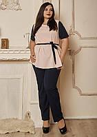 Женский брючный костюм с блузкой. Размеры 52, 54, 56, фото 1